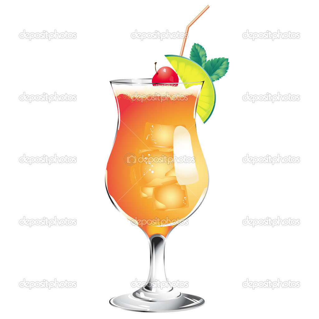 Tequila sunrise cocktail stock vector yukitama 6448262 for Best tequila for tequila sunrise