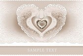 Wedding invitation, frame, heart — Stock Photo