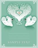 Wedding swans — Stock Photo