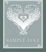 Wedding invitation, frame, heart — Stock Photo