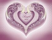 Wedding invitation, heart — Stock Photo
