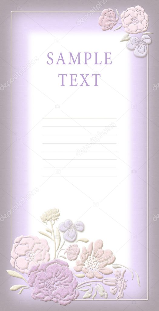 Cute wedding invitation card with flowers ornament frame