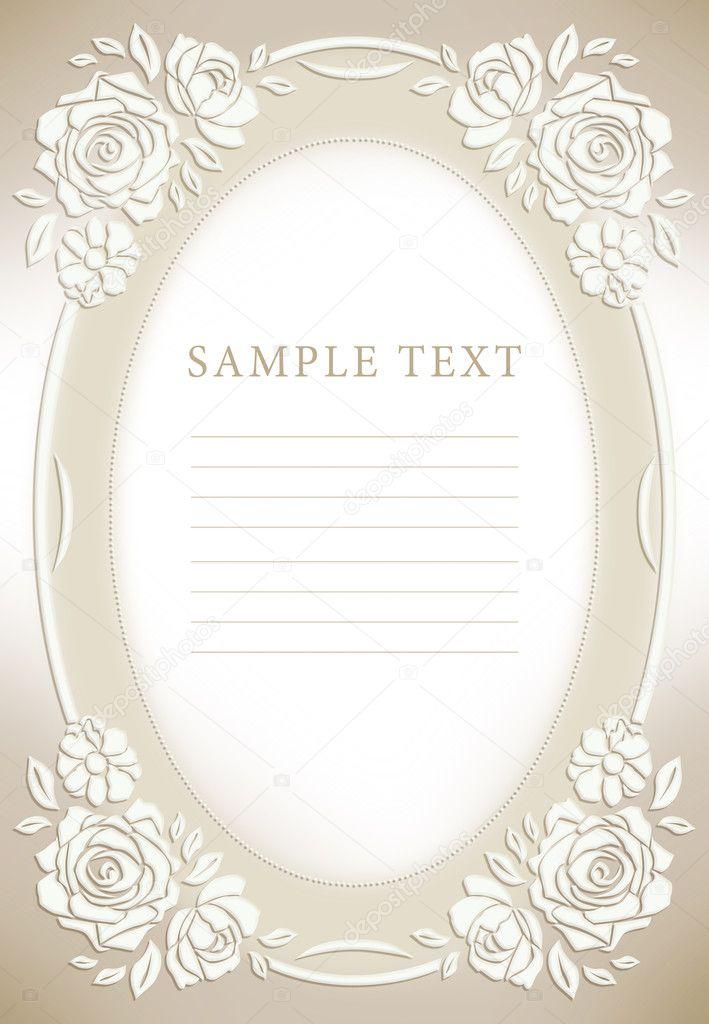 wedding invitation frame stock photo art321 6599707. Black Bedroom Furniture Sets. Home Design Ideas