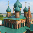 Orthodox Cathedral with blue cupola — Stock Photo #6732412