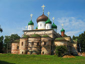 Orthodox Cathedral with green cupola — Stock Photo