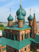 Orthodox Cathedral with blue cupola — Stock Photo