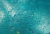 Blue water drops — Stock Photo