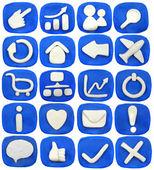 Blue window — Stockfoto