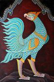 Tajski malarstwo ścienne na ścianie — Zdjęcie stockowe