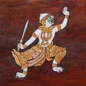 Traditional Thai art painting — Stock Photo