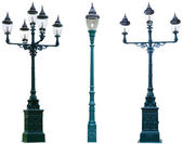 Isolated Antique Lamp Post — Stock Photo