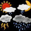 Weather Icon plasticine — Foto de Stock