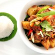 Asian food potatoes curry top view — Stock Photo