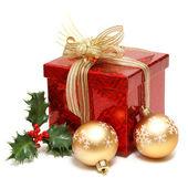 Krabice vánoční dárek — Stock fotografie