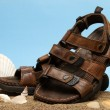 Stock Photo: Leather Sandals