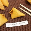 Royalty-Free Stock Photo: Successful Fortune Cookie