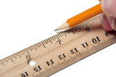 Designing With a Ruler — Stock Photo