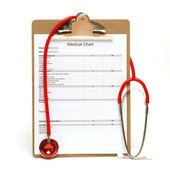 Carta médica — Foto de Stock