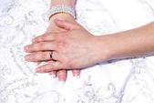 Brides Hands — Stock Photo
