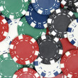 Poker Chips Background — Stock Photo #6552322