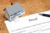 Deed to a House — Stock Photo