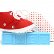 Baby Blocks and Shoes — Stock Photo #6601231