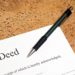 Deed to Property — Stock Photo