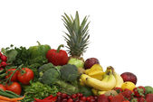 Fruits and Vegetable Arrangement — Stock Photo