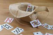 Tossing Cards — Stock Photo