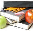 School Books with Pencil Case — Stock Photo