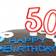 Stock Photo: Happy 50th Birthday