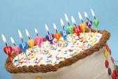 Mutlu doğum günü mumları — Stok fotoğraf