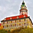 Castle in Cesky Krumlov in HDR - Stock Photo