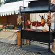 Christmas Market in Cesky Krumlov - Stock Photo