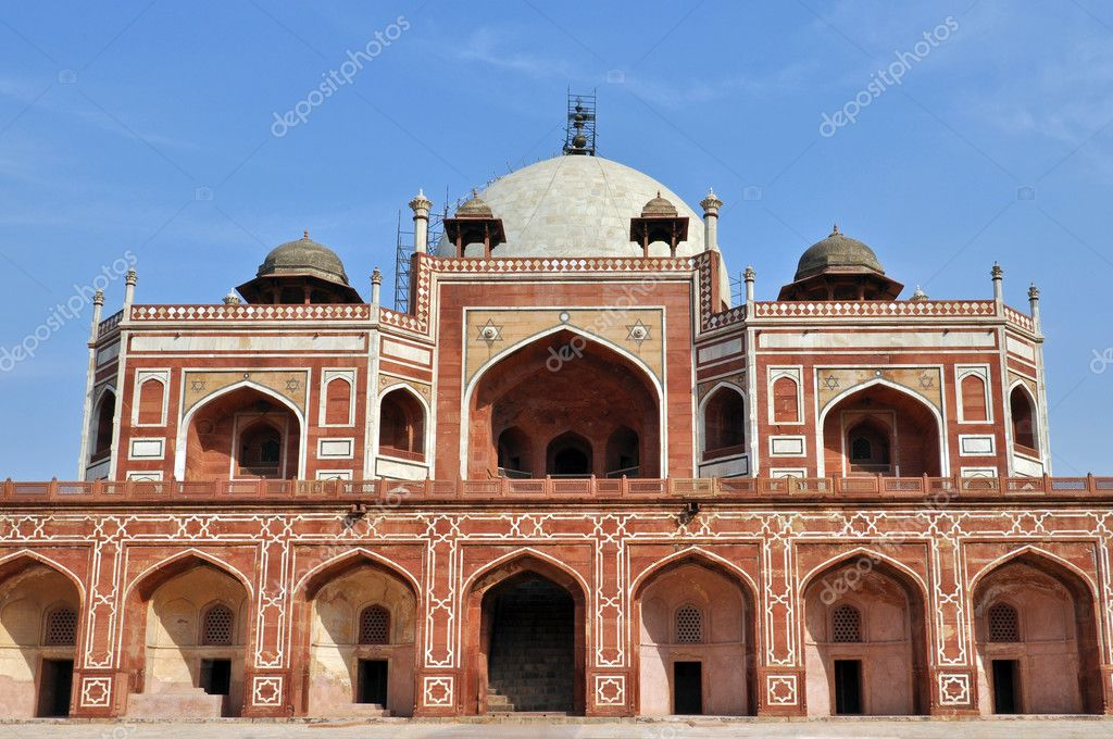 Humayun Tomb in New Delhi during the sunny day, India.  Stock Photo #6476286