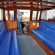 Interior of Water Taxi in Venice, Italy - Stock Photo