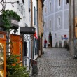 Narrow Street of Cesky Krumlov - Stock Photo