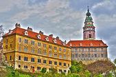 Castello di cesky krumlov in hdr — Foto Stock