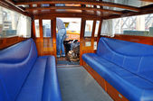 Interior of Water Taxi in Venice, Italy — Stock Photo