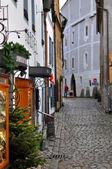 Narrow Street of Cesky Krumlov — Stock Photo