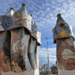 Casa Batllo, the Detail of a Roof — Stock Photo