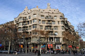 Casa Mila in Barcelona — Stock Photo