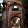 One of the entrances of Humayun Tomb, India. - Stock Photo