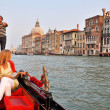 Gondola on the Grand Channel in Venice - Stock Photo