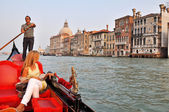 Gondola on the Grand Channel in Venice — Stock Photo