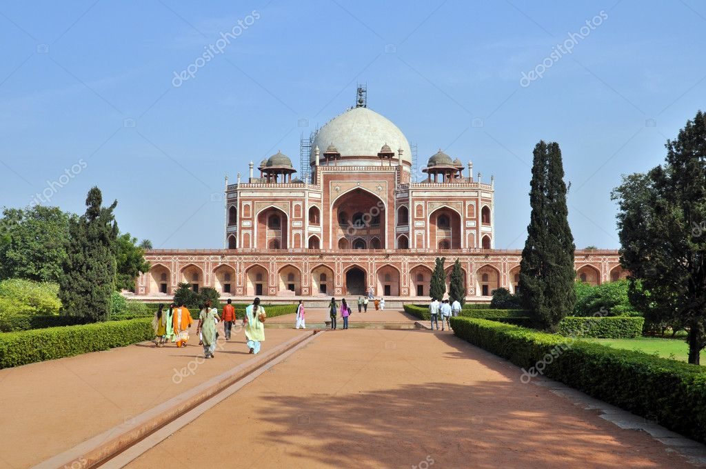 Humayun Tomb in New Delhi during the sunny day, India.  Stock Photo #6533880