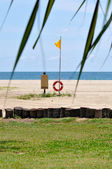 Borneo beach flagga — Stockfoto