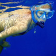 Young Woman Snorkeling — Stock Photo #6585618