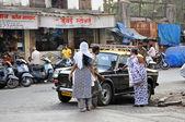 Indian Take Taxi — Stock Photo