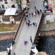 Bridge in Cesky Krumlov - Stock Photo